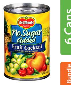 (6 Pack) Del Monte No Sugar Added Fruit Cocktail, 14.5 oz