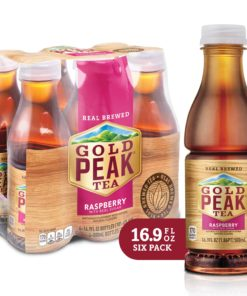 (2 Pack) Gold Peak Iced Tea, Raspberry, 16.9 Fl Oz, 6 Count