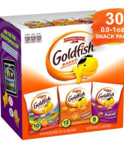 Pepperidge Farm Goldfish Classic Mix Crackers, 29 oz. Variety Pack Box, 30-count Snack Packs