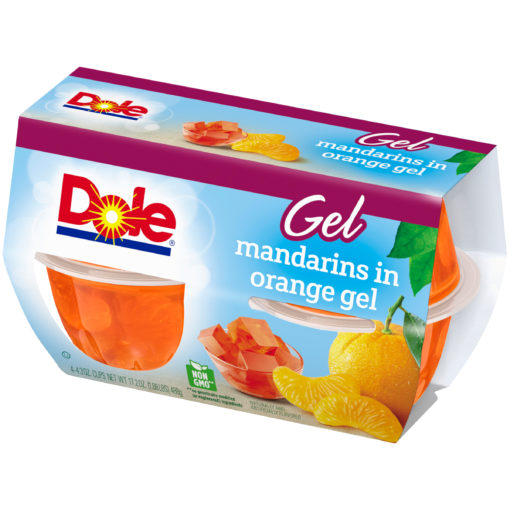 (2 Pack) Dole Fruit Bowls, Mandarins in Orange Gel, 4.3 Ounce (4 Cups)