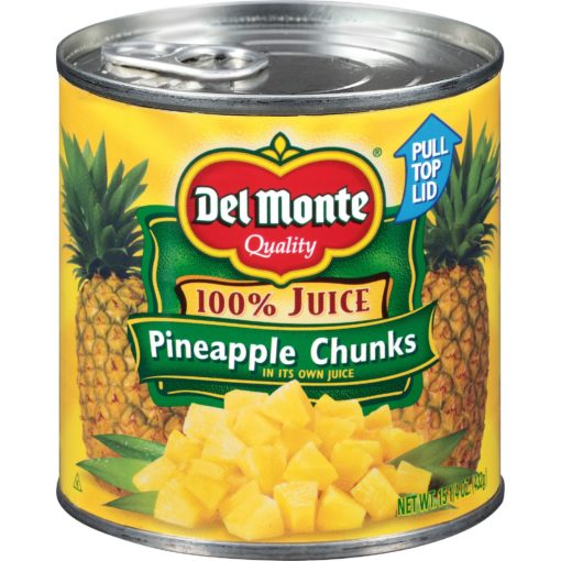 Del Monte Pineapple Chunks in 100% Juice, 20 oz