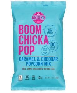 Angie?s BOOMCHICKAPOP Caramel & Cheddar Popcorn Mix, 6 Ounce Bag, Box of 12