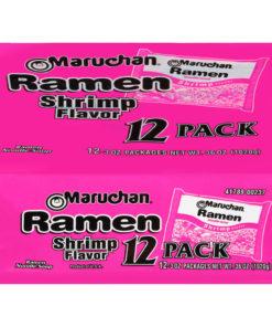 (3 Pack) Maruchan Shrimp Flavor Ramen Noodle Soup, 3 oz, 12 count
