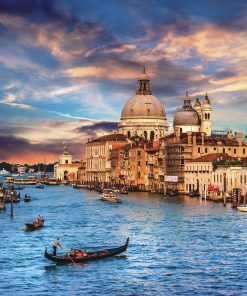 """Jigsaw Puzzle """"Grand Canal, Venice Italy"""" Gold Edition 500 Pieces by Wuundentoy"""