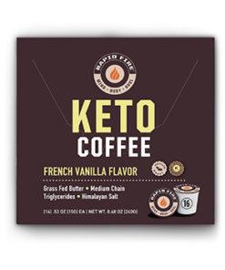 Rapid Fire Ketogenic Coffee Pods, French Vanilla Flavor, 8.48 oz., 16 pods