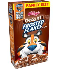 Kellogg's Chocolate Frosted Flakes Family Size Chocolate Cereal – 24.7 Oz Box