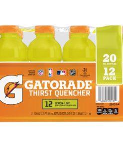 Gatorade Thirst Quencher Sports Drink, Lemon Lime, 20 oz Bottles, 12 Count