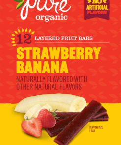 Pure Organic Fruit Bars, Strawberry & Banana, 12 ct, 0.63 oz