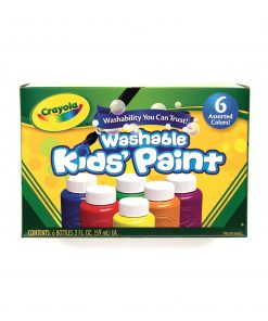 Crayola Washable Kids' Paint Set, 6-Colors