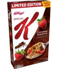 Kellogg's Special K Breakfast Cereal, Chocolatey Strawberry, Family Size, 18.5 Oz
