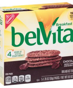 belVita Chocolate Breakfast Biscuits, 5 Packs (4 Biscuits Per Pack)