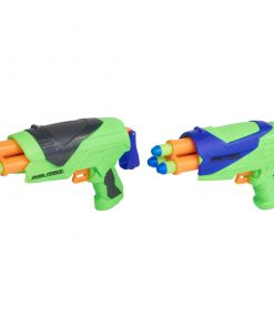 Adventure Force Duel Force Dart Blasters, Green & Black and Green &  Blue, Pack of 2