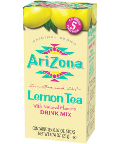 (20 Packets) AriZona Zero Sugar Lemon Iced Tea Powdered Drink Mix Sticks