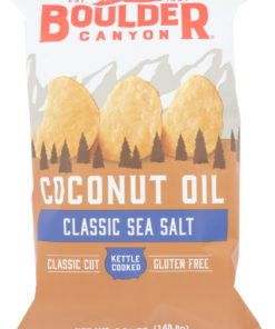 Boulder Canyon Coconut Oil Sea Salt Potato Chips, 5.25 oz, (Pack of 12)