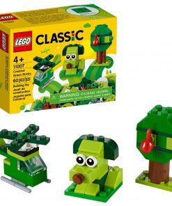 LEGO Classic Creative Green Bricks 11007 Building Kit to Inspire Imaginative Play (60 Pieces)