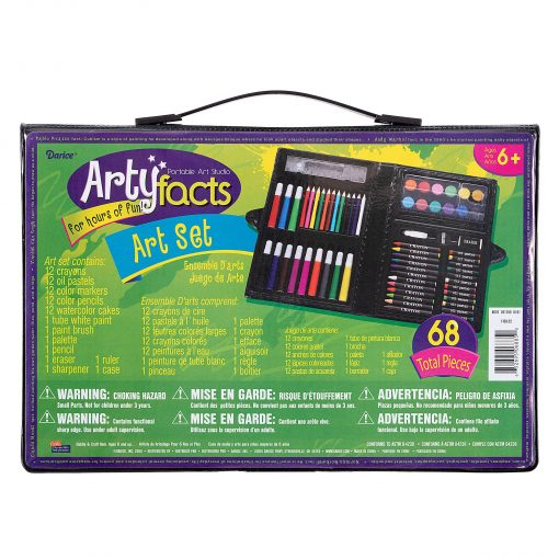 Darice Art Set in Portable Plastic Case, 68 Pieces