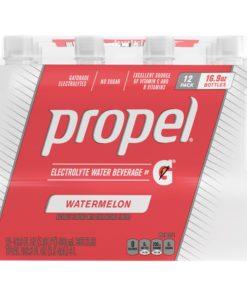 Propel Electrolyte Water, Watermelon, 16.9 oz Bottles, 12 Count
