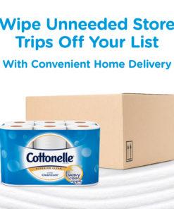 Cottonelle Ultra CleanCare Toilet Paper, 12 Mega Rolls (=48 Regular Rolls)