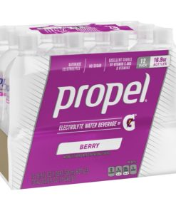 Propel Electrolyte Water, Berry, 16.9 oz Bottles, 12 Count