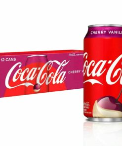 Coca Cola Cherry Vanilla Cola Soda 12 pack Pop Soft Drink 12 oz