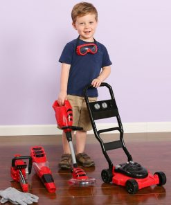 CP Toys Power Garden Tools – Push Mower, Chain Saw, String Trimmer, and Blower