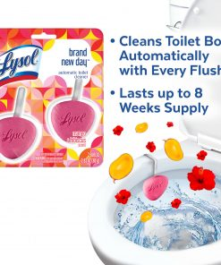 Lysol Automatic Toilet Bowl Cleaner 2ct Brand New Day Mango & Hibiscus