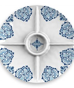 Better Homes & Gardens Milani Melamine Divided Server Plate