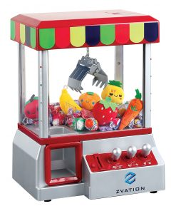 The Claw – As Seen On TV – Candy Grabber Mini Claw Machine W/ 6 Plush Fruits