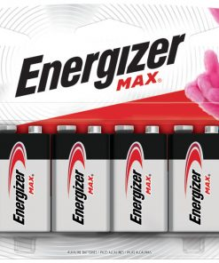 Energizer MAX Alkaline Battery 9 V 6-Pack 5 Year Shelf Life Long Lasting Power