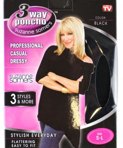 3-Way Black Poncho, Small to Large