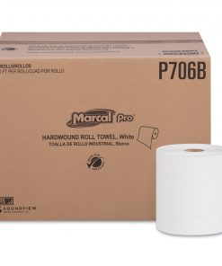 Marcal PRO Hardwound Roll Paper Towels, 1-Ply, 7 7/8″ x 600ft, 12 Rolls/Carton -MRCP706B