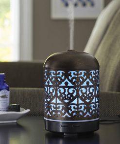 Better Homes & Gardens 100 mL Ultrasonic Aroma Diffuser, Moroccan Scroll