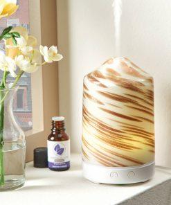 Better Homes & Gardens 100 mL Ultrasonic Aroma Diffuser, Gold Swirl