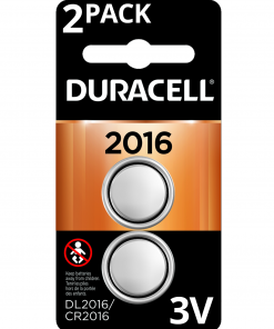 Duracell 3V Lithium Coin Battery 2016 2 Pack Long-Lasting Batteries