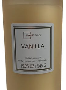 Mainstays Frosted Glass Single-Wick Candle 19 oz, Vanilla