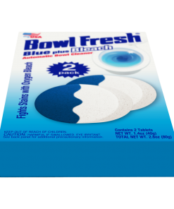 Bowl Fresh Automatic Toilet Bowl Cleaner Toilet Bowl Freshener with Borax & Bleach 2 Ct