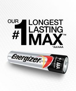Energizer MAX Alkaline, AAA Batteries, 12 Pack