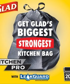 Glad Tall Kitchen Trash Bags, 20 Gallon, 30 Bags (ForceFlexPlus XL, Fresh Clean)