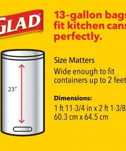 Glad Tall Kitchen Trash Bags, 13 Gallon, 40 Bags (ForceFlex, Mediterranean Lavender)