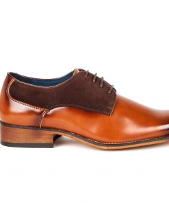 Gino Vitale Men's Two Tone Plain Toe Dress Shoes