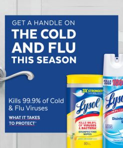 Lysol Disinfecting Wipes, Ocean Fresh & Lemon, 320ct (4x80ct), Cleaner