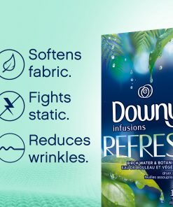 Downy Infusions Dryer Sheets, Refresh Birch Water & Botanicals 200 Count