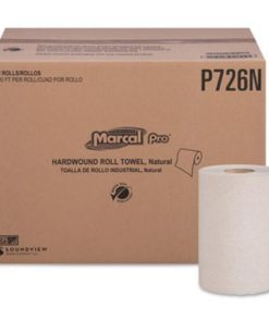 Marcal PRO Hardwound Roll Paper Towels, 1-Ply, 7 7/8″ x 600ft, 12 Rolls/Pack,12 Pack/Carton -MRCP726N
