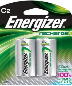 Energizer Rechargeable 2500mAh C Batteries, 2-Pack #NH35BP2