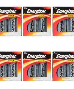 12 Energizer Max Size C Long Lasting Alkaline Batteries Pack Lot Exp 2023-2024