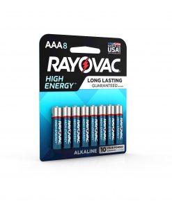 Rayovac High Energy Alkaline, AAA Batteries, 8 Count