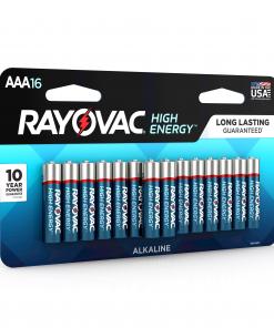 Rayovac High Energy Alkaline, AAA Batteries, 16 Count