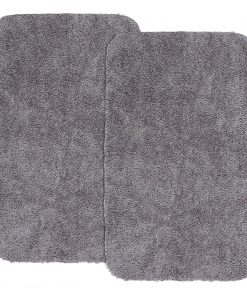 2pk. Mainstays Basic Washable Bath Rug Set, 19.5″ x 32″ & 19.5″ x 32″, Light School Grey