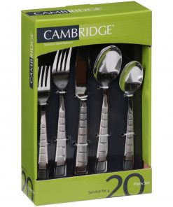 Cambridge Silversmiths Mosaic Sand 20-Piece Flatware Set