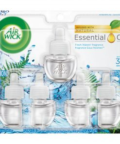Air Wick Plug in Refill, 5ct, Fresh Waters, Scented Oil, Air Freshener